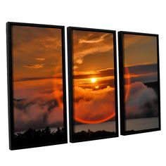 Circle Around Sun by Steve Ainsworth 3 Piece Floater Framed Photographic Print on Canvas Set