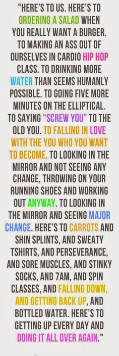 """""""Here's to us."""" #fitness #health #workout The falling in love with who you want to be!"""