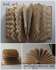 30 Insanely Beautiful Examples of DIY Paper Art That Will Enhance Your Decor homesthetics decor Folded Book Art, Paper Book, Book Folding, Diy Paper, Paper Art, Paper Crafts, Kirigami, Book Page Crafts, Papier Diy