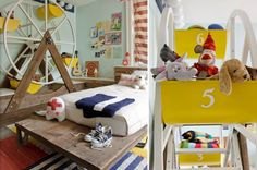 oh my gosh..this kid much have so much fun in this room.. theme room done right!