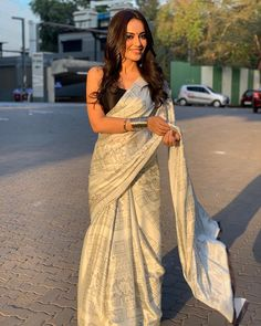 Saree Indian Bollywood New Digital Reach Printed White Fancy Saree For Woman DV Indian Bollywood, Indian Sarees, Bollywood Wedding, Indian Attire, Indian Wear, Saris, Indian Dresses, Indian Outfits, Indian Clothes