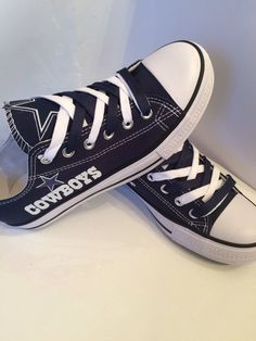 Dallas cowboys women s tennis shoes read by Sportzfanatics on Etsy c06f5c876