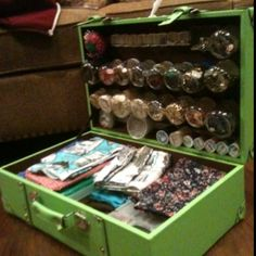 DIY Craft Box from an old suitcase