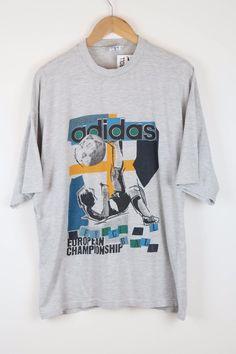 bc574fd4b16 ADIDAS Vintage Bold logo design T-shirt 90's oldschool retro SZ XL (A541)