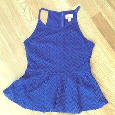 Peplum Tank Royal blue peplum tank. Seriously the cutest. Never been worn! It's a small, but definitely runs small. Very form fitting! NWOT Tops