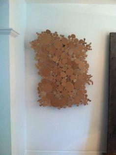 Recycled cardboard art. Pinkerton team designs!