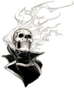 Dave Rapoza on Ghost Rider Drawing, Ghost Rider Tattoo, Ghost Rider Bike, Ghost Rider Marvel, Blue Ghost Rider, Ghost Rider Wallpaper, Marvel Wallpaper, Marvel Comics, Marvel Art
