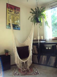 Hippy Hammock // Macrame Chair // by thethrowbackdaze on Etsy, $200.00