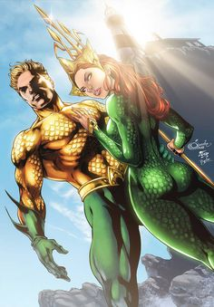 Aquaman - Mera by diabolumberto on DeviantArt Marvel Dc Comics, Aquaman Dc Comics, Dc Comics Art, Comics Girls, Marvel Vs, Anime Comics, Hq Dc, Univers Dc, Dc Comics Characters