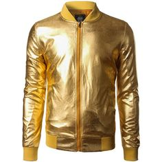 Stand Collar Zip Up Metallic Bomber Jacket rosewholesale.com