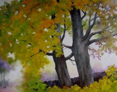Maples, painting by artist Nel Jansen