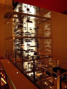 Aureole Las Vegas. home to the world's tallest wine rack