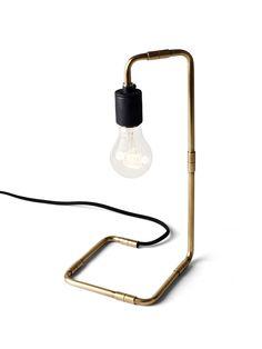 Tribeca Reade Table Lamp in Brass design by Menu Modern Lighting, Lighting Design, Crystal Lights, Pot Mason, Old Lamps, Black Table Lamps, Pipe Lamp, Bedside Lamp, Scandinavian Design