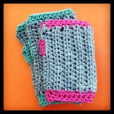 Chunky Aran crochet gloves