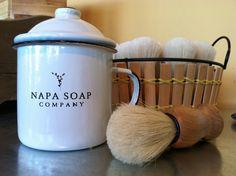 Napa Soap Company Shaving Kit  available at Fibre Arts Design in Palo Alto, CA