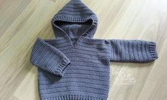patron jersey bebe jacket baby crochet ganchillo