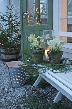 #christmas #outside #kerstboom #kerstsfeer #zelfmaken #knutselen #ideeen #kerstideeen #ideas #outside #wintergarden #buiten