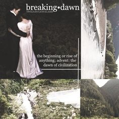 breaking•dawn - the beginning or rise of anything; advent: the dawn of civilization
