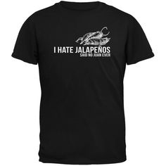 Cinco de Mayo - I Hate Jalapenos Black Adult T-Shirt