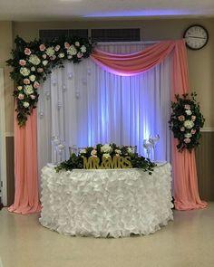 Wedding Reception Backdrop, Wedding Stage Decorations, Anniversary Decorations, Engagement Decorations, Backdrop Decorations, Wedding Table, Wedding Mandap, Wedding Receptions, Simple Wedding Bouquets