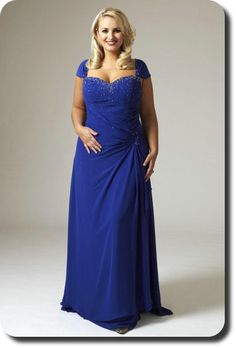 Faviana Plus Size Royal Blue Halter Prom Dress 9267 at ...