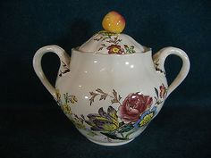 Copeland Spode Gainsborough Old Mark Discounted Covered Sugar Bowl with Lid