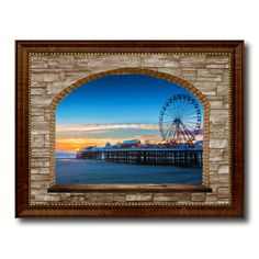 Central Pier Lancashire Picture 3D Arch Window Canvas Print Home Décor Wall Frames #prints #printable #painting #canvas #empireprints #teepeat