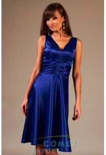 Společenské šaty pro plnoštíhlé Elvia modré