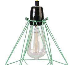 DIAMOND 1 - Lampa wisząca Miętowy kabel Żółty Śr.18cm - Lampy wiszące - zdjęcia, pomysły, inspiracje - Homebook