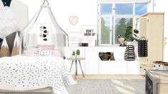 Sims 4 CC's - The Best: Kids Art by ViikiitaStuff (Furniture Designs Kids)