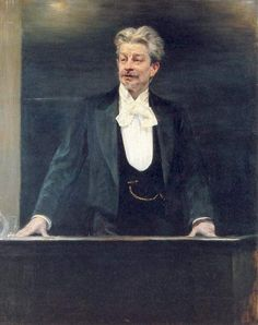 George Brandes Painting by Peder Severin Kroyer (reproduction)