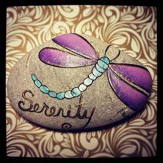 Custom order#rachelsrocks #serenity #dragonflies #paintedrocksofinstagram #paintedstonesofinstagram #paintedrocks #rachelsrockscanada