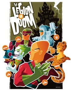 The Legion Of Doom By Tom Whalens vintage posters