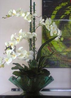 Orchid Flower Arrangements, Orchid Centerpieces, Indoor Orchids, Orchid Plants, Pretty Flowers, Silk Flowers, Beautiful Flowers Wallpapers, White Orchids, Flower Wallpaper