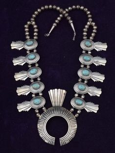 Vintage Tommy Singer squash blossom necklace | High Plains Jewelry