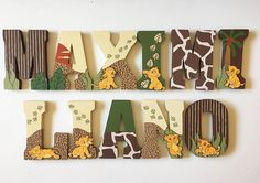 Baby Lion King Letters For A Room Handmade On Etsy Ad