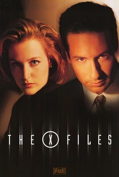 """The X-Files series// Mulder and Scully...im a Sci-fi junkie""""....""""im humming the theme tune in my head""""..."""