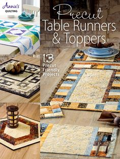 Pre-cut Table Runners and Topper Quilt Patterns