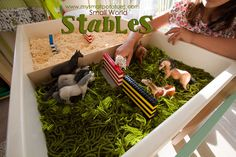 Small World Stables...horses, a meadow, jumps, and a riding arena! So much fun for your little ones!