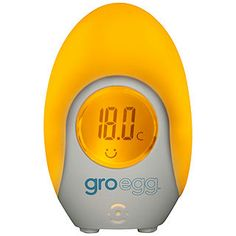 The Gro-egg Baby Room Thermometer helps you maintain a safe sleeping environment for your baby, whilst also acting as a gentle night light. Buy Gro-egg Baby Room Thermometer from Health and Care with Free Delivery. Eggs For Baby, Egg Baby, Digital Thermometer, Babies R Us, Nursery Furniture, Cool Gadgets, Baby Sleep, Cooking Timer