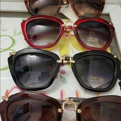 High quality  elegant cat eye wine brown black ani High quality  elegant cat eye wine brown black animals top quality women UV 400 protection gold metal  C8133 BUNDLE this one with any other from this closed for $16 Accessories Glasses