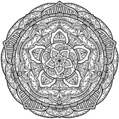 Pattern Mandalas To Color