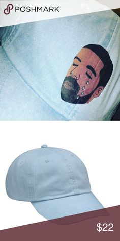 f1bb4a30dd527 Custom crying drake dad hat Hat can come in any color requested ✳ Hats are  from