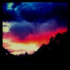 No sky like the Santa Fe sky