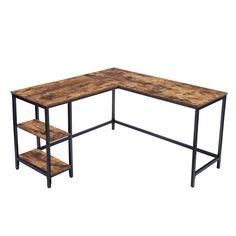 Corner Writing Desk, Writing Table, Wooden Corner Desk, Corner Workstation, Industrial Computer Desk, Table Pc, L Shaped Corner Desk, Laptop Table, Laptop Desk