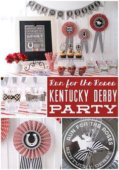 Kentucky Derby Party Ideas on polkadotchair.com