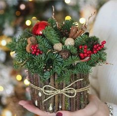 27 posh christmas home decor ideas for your beautiful home 16 Christmas Arrangements, Holiday Centerpieces, Rustic Centerpieces, Flower Arrangements, Centerpiece Ideas, Pinecone Centerpiece, Noel Christmas, Rustic Christmas, Christmas Wreaths