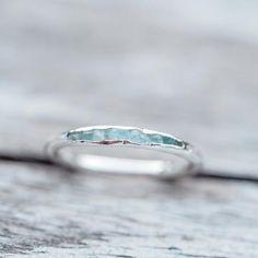 Aquamarine Ring with Hidden Gems