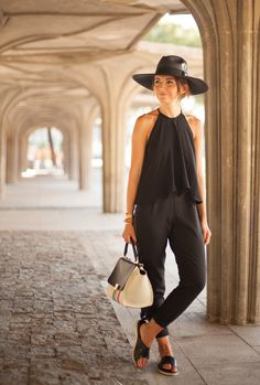 Lovely Pepa by Alexandra pants: Asos (s/s 15)  top: Zara (s/s 15) sandals: Oysho  bag: Céline  hat: Raceu Hats
