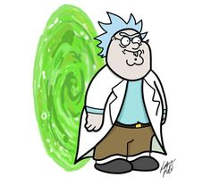 Rick and Morty x Family Guy
